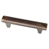 Brainerd 3-in Center-to-Center Bronze with Gold Highlights Rectangular Cabinet Pull
