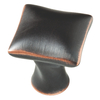 Brainerd 1-in Bronze with Copper Highlights Square Cabinet Knob