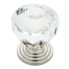 Brainerd Satin Nickel and Clear Round Cabinet Knob