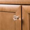 Brainerd Satin Nickel and Clear Round Cabinet Knob