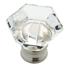 Brainerd 1-in Satin Nickel and Clear Round Cabinet Knob
