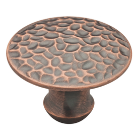 Brainerd Red Antique Round Cabinet Knob