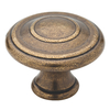 Brainerd 1-in Tumbled-Antique Brass Round Cabinet Knob