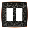 Brainerd 2-Gang Bronze with Copper Highlights Decorator Rocker Metal Wall Plate