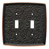 Brainerd 2-Gang Bronze with Copper Highlights Standard Toggle Metal Wall Plate