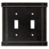 Brainerd 2-Gang Soft Iron Standard Toggle Metal Wall Plate