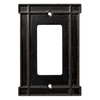 Brainerd 1-Gang Soft Iron Decorator Rocker Metal Wall Plate