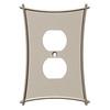 Brainerd 1-Gang Vintage Nickel Standard Duplex Receptacle Metal Wall Plate