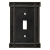 Brainerd 1-Gang Soft Iron Standard Toggle Metal Wall Plate