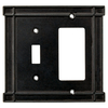 Brainerd 2-Gang Soft Iron Combination Metal Wall Plate
