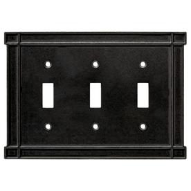 Brainerd 3-Gang Soft Iron Standard Toggle Metal Wall Plate