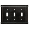 Brainerd 3-Gang Soft Iron Standard Toggle Metal Wall Plate