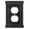 Brainerd 1-Gang Soft Iron Standard Duplex Receptacle Metal Wall Plate