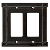 Brainerd 2-Gang Soft Iron Decorator Rocker Metal Wall Plate