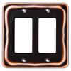 Brainerd 2-Gang Bronze with Copper Highlights Decorator Rocker Metal Wall Plate