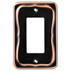 Brainerd 1-Gang Bronze with Copper Highlights Decorator Rocker Metal Wall Plate