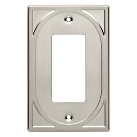Brainerd 1-Gang Satin Nickel Decorator Metal Wall Plate
