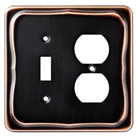 Brainerd 2-Gang Bronze with Copper Highlights Wall Plate