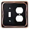 Brainerd 2-Gang Bronze with Copper Highlights Combination Metal Wall Plate