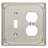 Brainerd 2-Gang Satin Nickel Combination Metal Wall Plate
