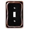 Brainerd 1-Gang Bronze with Copper Highlights Standard Toggle Metal Wall Plate