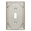 Brainerd 1-Gang Satin Nickel Standard Toggle Metal Wall Plate