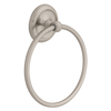 Style Selections Glendale Satin Nickel Wall-Mount Towel Ring