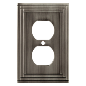 allen + roth Lexington 1-Gang Brushed Nickel Round Wall Plate