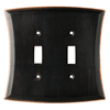 allen + roth Ivorten 2-Gang Oil Rubbed Bronze Standard Toggle Metal Wall Plate