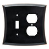 allen + roth Ivorten 2-Gang Bronze with Copper Highlights Combination Metal Wall Plate
