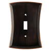 allen + roth Ivorten 1-Gang Oil Rubbed Bronze Standard Toggle Metal Wall Plate