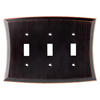 allen + roth Ivorten 3-Gang Oil Rubbed Bronze Standard Toggle Metal Wall Plate