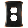 allen + roth Ivorten 1-Gang Oil Rubbed Bronze Standard Duplex  Metal Wall Plate