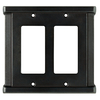 Brainerd Landen 2-Gang Soft Iron Decorator Rocker Steel Wall Plate