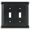 Brainerd Landen 2-Gang Soft Iron Standard Toggle Steel Wall Plate