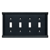 Brainerd Landen 4-Gang Soft Iron Toggle Wall Plate