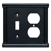 Brainerd Landen 2-Gang Soft Iron Combination Steel Wall Plate