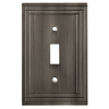 allen + roth Lexington 1-Gang Brushed Nickel Standard Toggle Metal Wall Plate