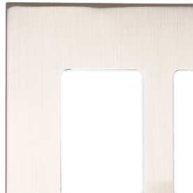 allen + roth Linden 2-Gang Satin Nickel Standard Toggle Metal Wall Plate