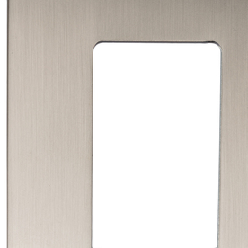 allen + roth Linden 1-Gang Satin Nickel Decorator Rocker Metal Wall Plate