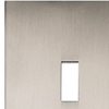 allen + roth Linden 1-Gang Satin Nickel Standard Toggle Metal Wall Plate