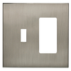 allen + roth Linden 2-Gang Satin Nickel Combination Metal Wall Plate