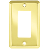 Style Selections Stamped Round 1-Gang Polished Brass Decorator Rocker Steel Wall Plate