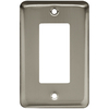 Style Selections Stamped Round 1-Gang Satin Nickel Decorator Rocker Steel Wall Plate