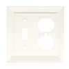Brainerd 2-Gang Cream Combination Steel Wall Plate