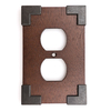 Brainerd Rowland 1-Gang Charcoal Ebony & Soft Iron Standard Single Receptacle Composite Wood Wall Plate
