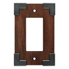 Brainerd Rowland 1-Gang Charcoal Ebony & Soft Iron Decorator Rocker Composite Wood Wall Plate