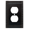 Brainerd Mission 1-Gang Soft Iron Standard Single Receptacle Metal Wall Plate