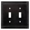 Brainerd Mission 2-Gang Soft Iron Standard Toggle Metal Wall Plate