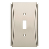 Brainerd Upton 1-Gang Satin Nickel Single Toggle Wall Plate